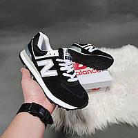 Женские кроссовки New Balance 574 черные