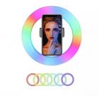 Селфи Led кольцо MJ33 RGB 33см разноцветная кольцевая лампа+штатив, фото 2