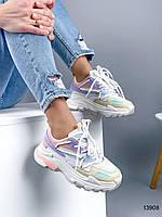 Женские кроссовки демисезонные экокожа цветные