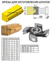 Фрезы для обработки кромки . Р6М5  125х32,  R- 5мм , B- 16мм.