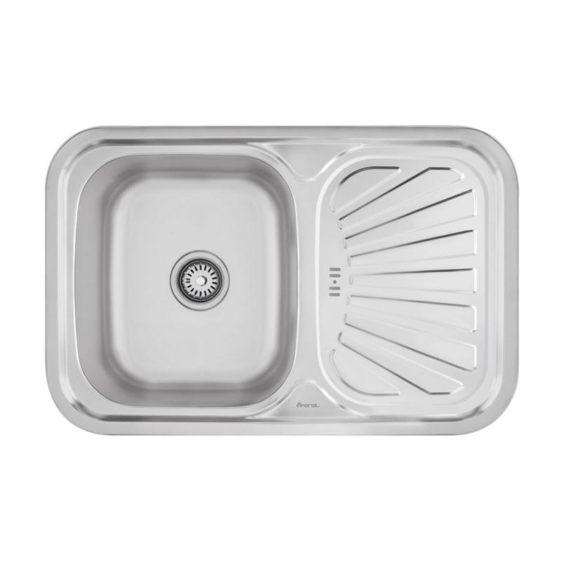 Врезная мойка для кухни из нержавеющей Imperial HQ-TF 02 (7549) Satin