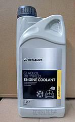 Антифриз готовий -21С Renault Symbol New/Thalia (зелений) 1л Renault Glaceol RX Type D (оригінал)