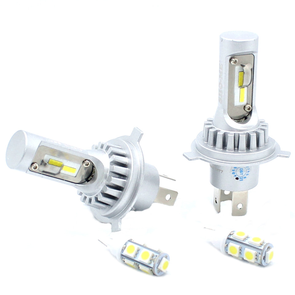 Автомобильные LED лампы Sho-Me F3 H4 20W 8000Lm 6500K Комплект головного светодиодного лед света для фар