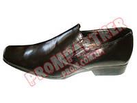 Туфли модельные на резинке 'Охранник' кожа