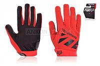 """Перчатки  """"FOX"""" , сенсорный палец, красные"""