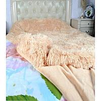 Плед бамбуковый на кровать длинный ворс - двуспальное евро