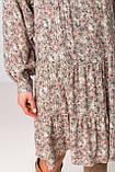 Легкое короткое платье свободного кроя с рукавами в размере S/M, M/L., фото 7
