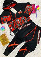 Крутой спортивный костюм для мальчиков подростка Турция .Размеры 134-  см