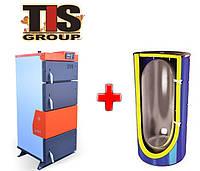 Пакетное предложение: Твердотопливный котел Tis UNI95 45-99 кВт + теплоаккумулятор 1000 л