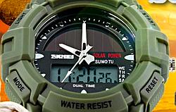 Часы водонепроницаемые противоударные на солнечной батарее