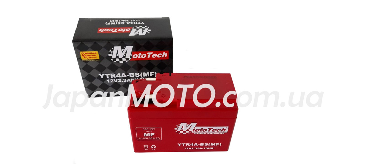 Аккумулятор 2,3A 12V Honda DIO AF-34/35 (YTR4A-BS) Mototech
