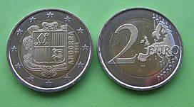 Андорра 2 євро 2014 р. UNC.