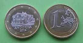 Андорра 1 євро 2014 р. UNC.