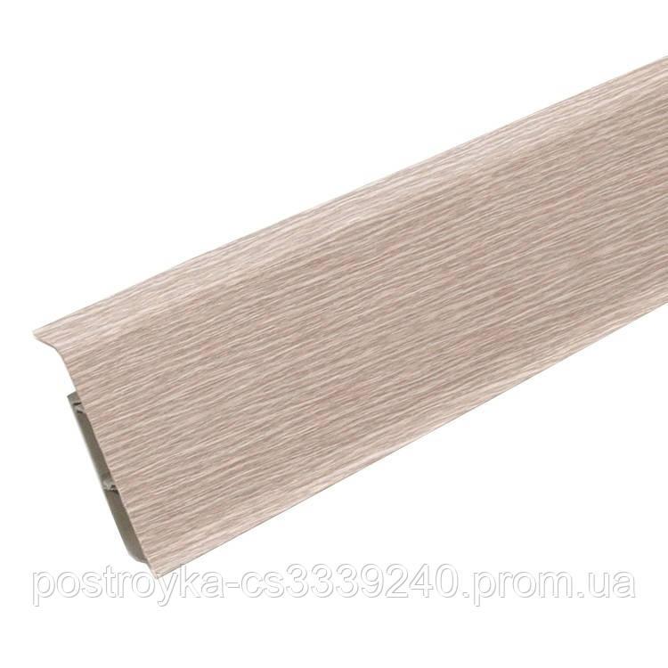 Плинтус пластиковый Идеал DECONIKA (Деконика) №229 Дуб латте 70 мм