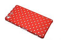 Пластиковый чехол для Sony Xperia M5 E5633 красный горошек, фото 1
