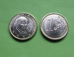 Ватикан 1 євро 2009 р. Папа Бенедикт XVI