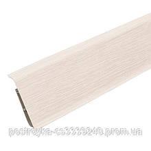 Плинтус пластиковый Идеал DECONIKA (Деконика) №266 Клен светлый 70 мм