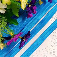 Резинка для повязок (эластичная бейка), 1,5 см, темно-голубой