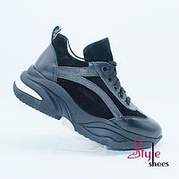 Кроссовки сникерсы женские кожаные, фото 1