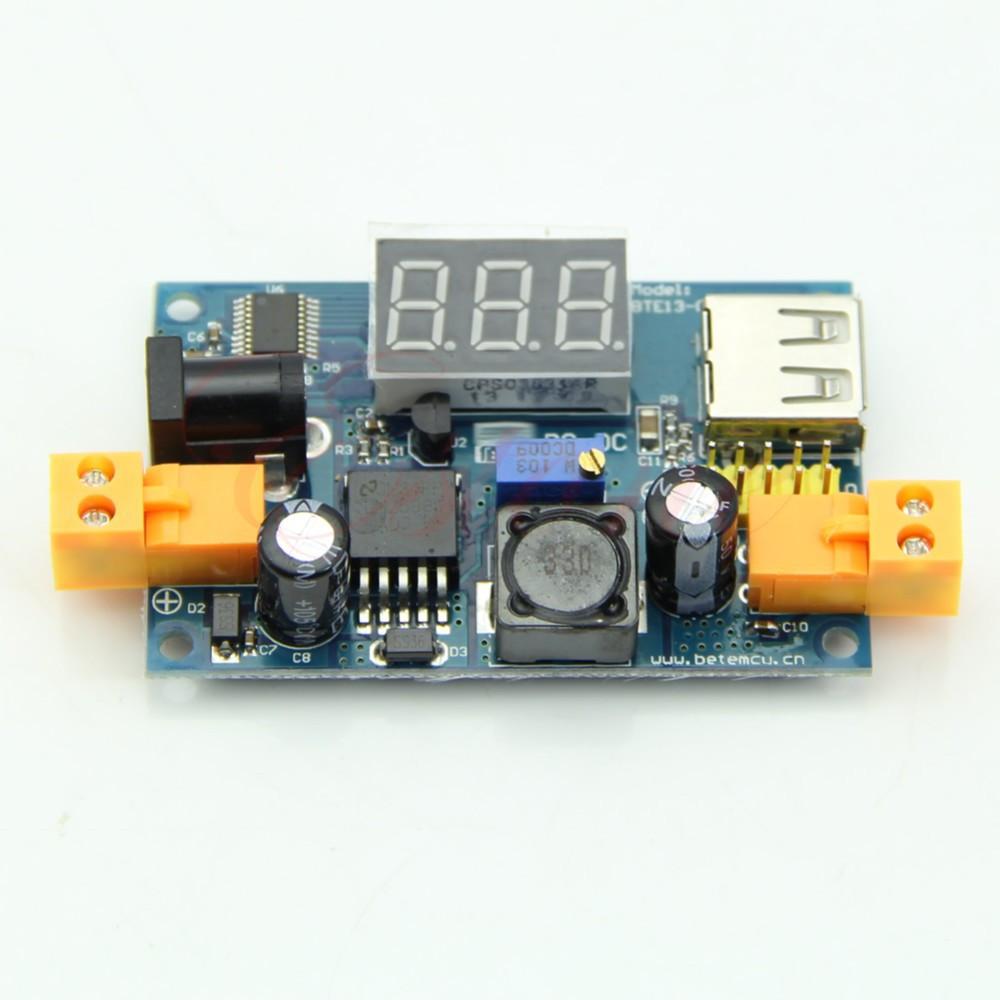 Понижающий конвертер тока +USB +гнездо +вольтметр
