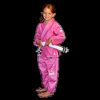 Дитяче кімоно Fuji All Around Kids BJJ Gi Pink розовое детское кимоно