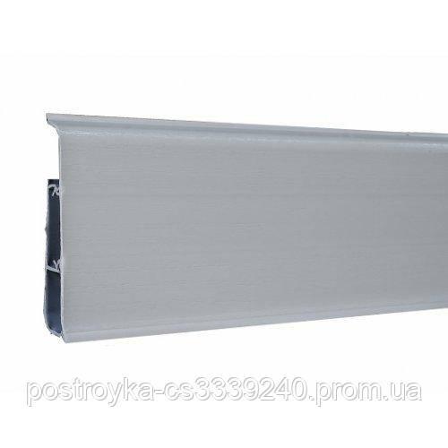 Плінтус пластиковий Ідеал DECONIKA (Деконика) №002 Світло-сірий 70 мм