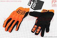 Перчатки мотоциклетные FOX черно/оранжевые