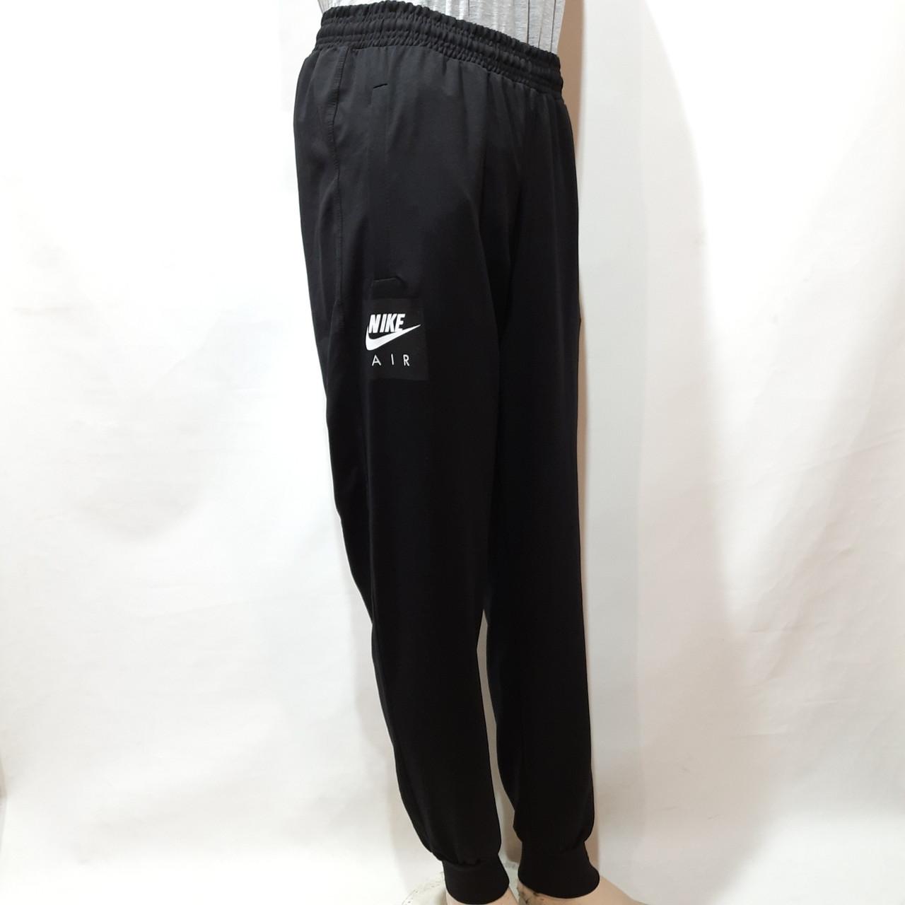 Мужские штаны весенние (Больших размеров) в стиле Nike под манжет черные