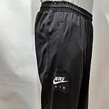 Мужские штаны весенние (Больших размеров) в стиле Nike под манжет черные, фото 4