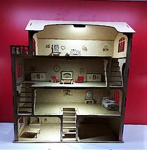 Большой кукольный домик + мебель ВПОДАРОК! 55см×50см