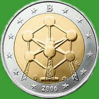 Бельгия 2 евро 2006 г. Атомиум . UNC