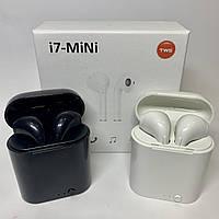 Беспроводные Bluetooth наушники i7 TWS mini 5.0 с кейсом, белые