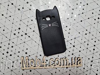 Гумовий 3D чохол Кіт Вуса (CAT MUSTACHE) для Samsung Galaxy (Самсунг) J3