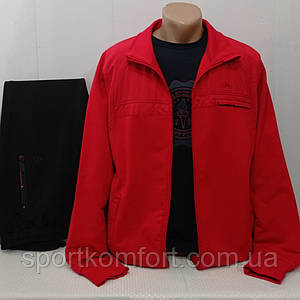 Червоний спортивний костюм Soccer Туреччина двунітка бавовна 70 брюки прямі кишені на блискавці м 3 хл л