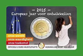 Бельгия 2 евро 2015 г. Европейский год развития .