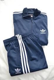 Спортивный костюм Adidas мужской эластик синий и черный норма