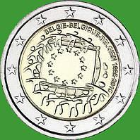 Бельгия 2 евро 2015 г. 30 лет флагу Европы . UNC