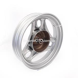 "Диск колеса задний 2.50*10"" SUZUKI LETS 1/2/3, AD100 колодки 110мм, темно-серый, фото 2"