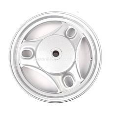 "Диск колеса задний 2.50*10"" SUZUKI LETS 1/2/3, AD100 колодки 110мм, темно-серый, фото 3"