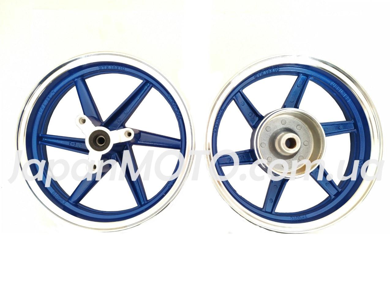 Диск колеса титановий HONDA DIO AF-28/35 (пара) сині