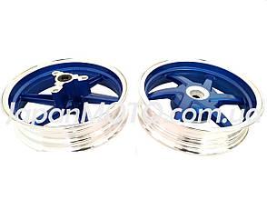Диск колеса титановий HONDA DIO AF-28/35 (пара) сині, фото 2