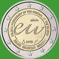 Бельгия 2 евро 2010 г .Председательство Бельгии в Совете Европейского союза . UNC