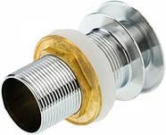 Донний клапан для умивальника латунний корпус без переливу, фото 2