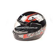 Шлем закрытый HF-101/501 (size: S, черный) KUROSAWA-MT