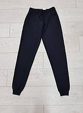 Спортивні штани чоловічі з манжетами однотонні чорні, фото 3