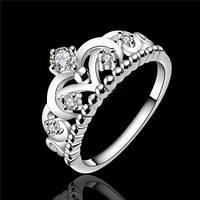 Кольцо Тиара покрытие 925 серебро проба фианиты
