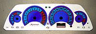 ProSpirit - Накладки на панель приборов для ВАЗ 2110, ВАЗ 2112, «Chevrolet Niva», White & Blue, YB-011