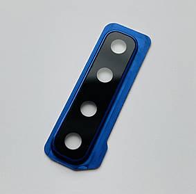 Скло на камеру Samsung A920 синій