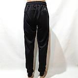 Мужские брюки спортивные весенние ( Норма ) в стиле Nike под манжет черные, фото 6