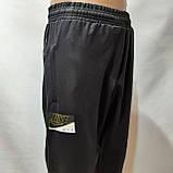 Мужские брюки спортивные весенние ( Норма ) в стиле Nike под манжет черные, фото 2